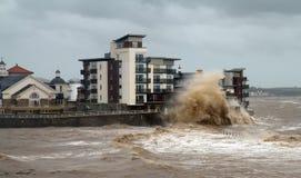 Weston-super-Mare stormar och kulingar Arkivbild