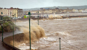 Weston-super-Mare storms Stock Photo
