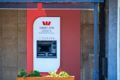 Westpac Bank branch ATM on the street