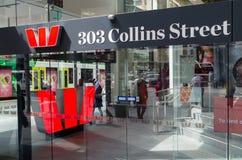 Westpac bankkontor i Melbourne, Australien Royaltyfria Bilder