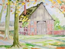 Westphalian barn Royalty Free Stock Photo
