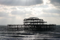 Westpier in Brighton Stockfotografie