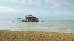 Westpier 1 Brightons lizenzfreies stockfoto