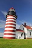WestQuoddy Hauptleuchtturm, Maine Stockfotos