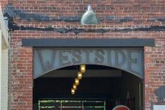 Westside-Atlanta-Einkaufen und Speisen lizenzfreie stockbilder