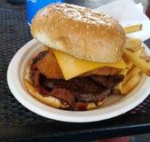 Westspeckcheeseburger stockbild