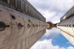 Weststadttor von Belgrad mit blauem Himmel Lizenzfreie Stockfotos
