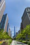 Weststraße und World Trade Center, New York Stockbilder