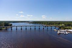 Westufer der beweglichen Bucht, Alabama lizenzfreies stockfoto