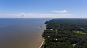 Westufer der beweglichen Bucht, Alabama stockbilder