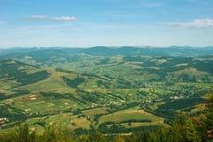 Westukraine, landwirtschaftliche Landschaft stockfoto