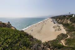 Westward Beach in Malibu California. Malibu, California, USA - June 29, 2017:  View of popular Westward Beach from Point Dume State Park Royalty Free Stock Image