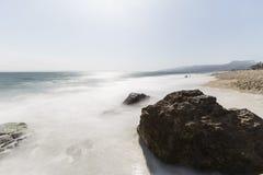 Westward Beach with Motion Blur in Malibu California Stock Photography