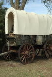 Westward Ho!. A traditional covered wagon like the type that was used to carry pioneers to the American West Stock Images