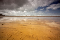 Westward Ho! beach scene Royalty Free Stock Image