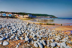 Westward Ho Devon England near Bideford in colourful HDR Royalty Free Stock Photo