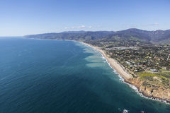 Westward and Zuma Beaches Malibu California Aerial. Aerial view of Point Dume, Westward and Zuma Beaches in Malibu, California Royalty Free Stock Photography
