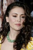 Alyssa Milano. WESTWOOD, CALIFORNIA. Monday May 22, 2006. Alyssa Milano at the World Premiere of `The Break-Up` held at the Mann Village Theatre in Westwood Royalty Free Stock Photo
