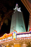 Westwood Village Movie Theatre at night, Los Angeles Royalty Free Stock Images
