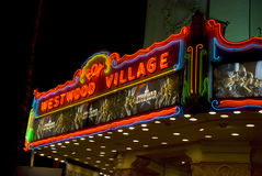 Westwood Village Movie Theatre at night, Los Angeles Stock Photo