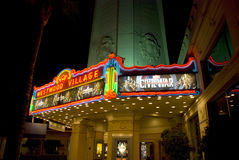 Westwood Village Movie Theatre at night, Los Angeles Royalty Free Stock Photography