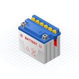 Wet Accumulator Vector Illustration. This image is a wet accu, is an apparatus by means of which energy can be stored, such as a rechargeable battery for vehicle Stock Photo