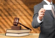 Wet, advocaat, boeken Royalty-vrije Stock Foto's