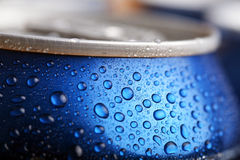 Wet aluminium can Royalty Free Stock Photo
