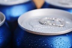 Wet aluminium can Stock Photography