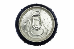 Wet aluminum can Stock Photo