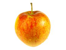 Wet apple. Isolated on the white background close-up Royalty Free Stock Photography