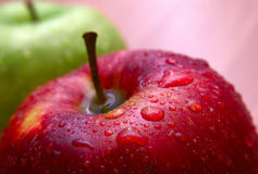 Wet apple Royalty Free Stock Photography