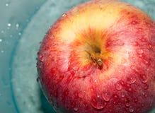 Wet Apple Stock Photo