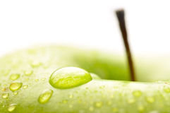 Wet apple closeup Royalty Free Stock Photography