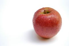Wet apple II. Apple with droplets Stock Image