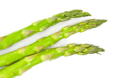 Wet Asparagus on White Royalty Free Stock Images