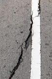 Wet asphalt cracks Stock Photo