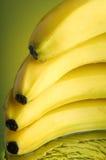 Wet Banana #1. Banana, water and mirror surface Stock Images