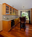 Wet bar. In a house Royalty Free Stock Photography