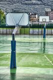 Wet basketball ground royalty free stock image