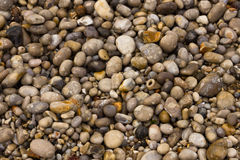 Wet beach pebbles Royalty Free Stock Images
