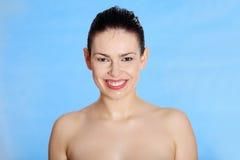 Wet beautiful and sensual woman Stock Image
