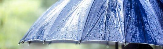 Wet umbrella closeup Royalty Free Stock Image