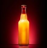 Wet beer bottle Stock Photo