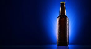 Wet beer bottle Royalty Free Stock Photo