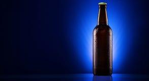 Wet beer bottle Royalty Free Stock Photo