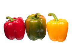 Wet bell peppers Royalty Free Stock Photography