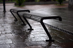 Wet benches Royalty Free Stock Photos