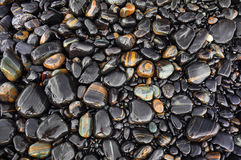 The wet black stone Royalty Free Stock Photography