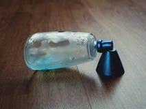Wet blue perfume Royalty Free Stock Photo